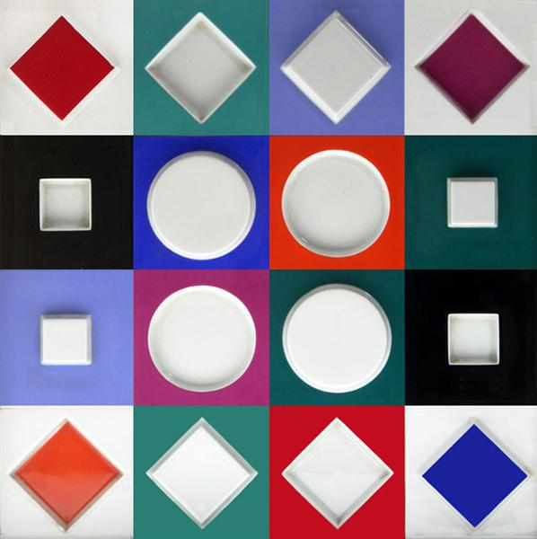 Composition Carrée Relief, 1970 - Victor Vasarely