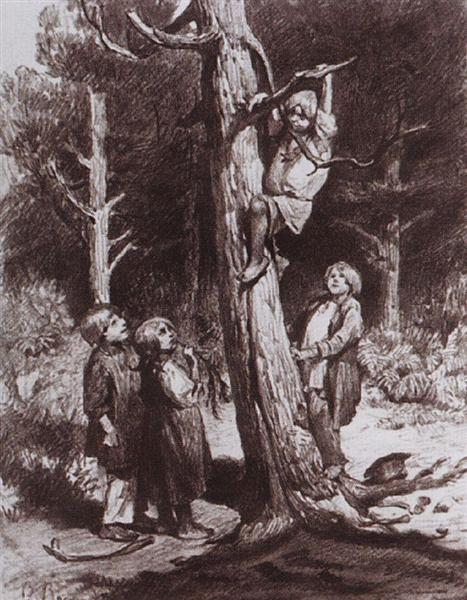 Children are ruining the nest - Viktor Vasnetsov