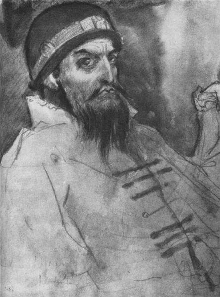 Ivan the Terrible(Sketch), 1884 - Viktor Vasnetsov