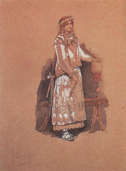 Maiden, 1885 - Viktor Vasnetsov