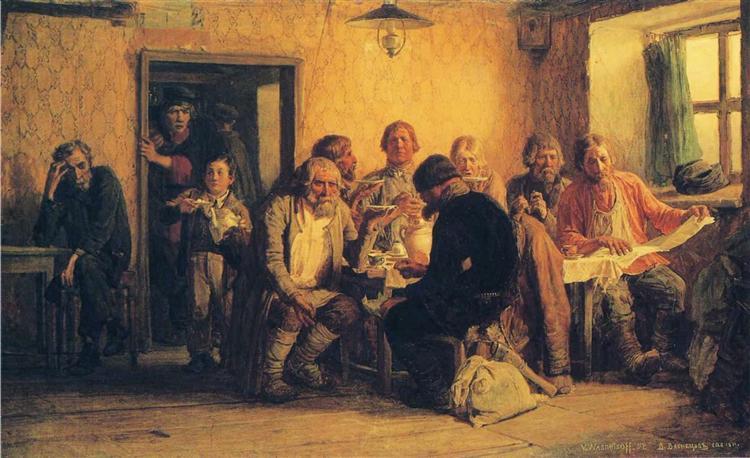 Tea drinking in a Tavern, 1874 - Viktor Vasnetsov