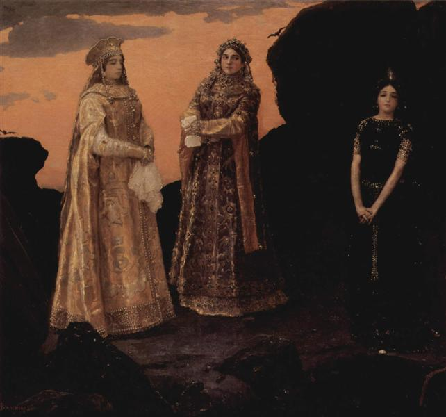 Three Tsarevnas of the Underground Kingdom, 1879 - Viktor Vasnetsov