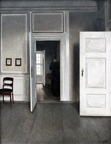 Interior Strandgade 30, 1901 - Vilhelm Hammershoi