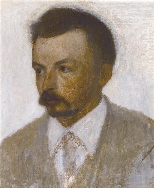 Self-portrait, 1895 - Vilhelm Hammershoi
