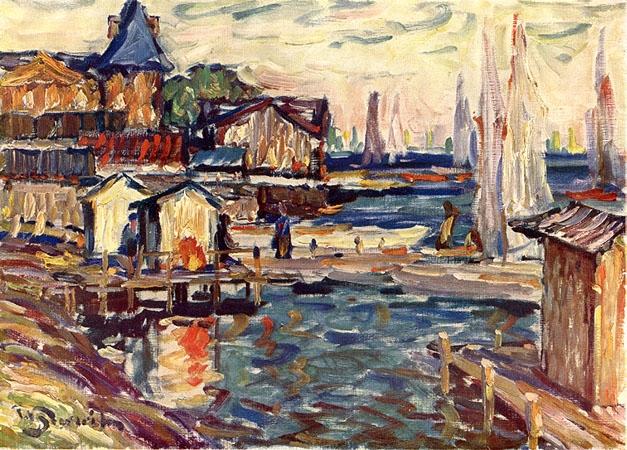 Laivu piestātne, 1930 - Vilhelms Purvitis