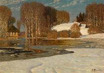 Lake in Early Spring - Vilhelms Purvitis