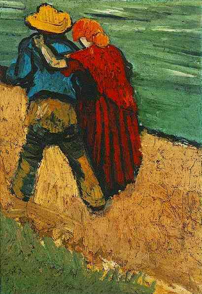 Two Lovers, Arles (Fragment), 1888 - Vincent van Gogh