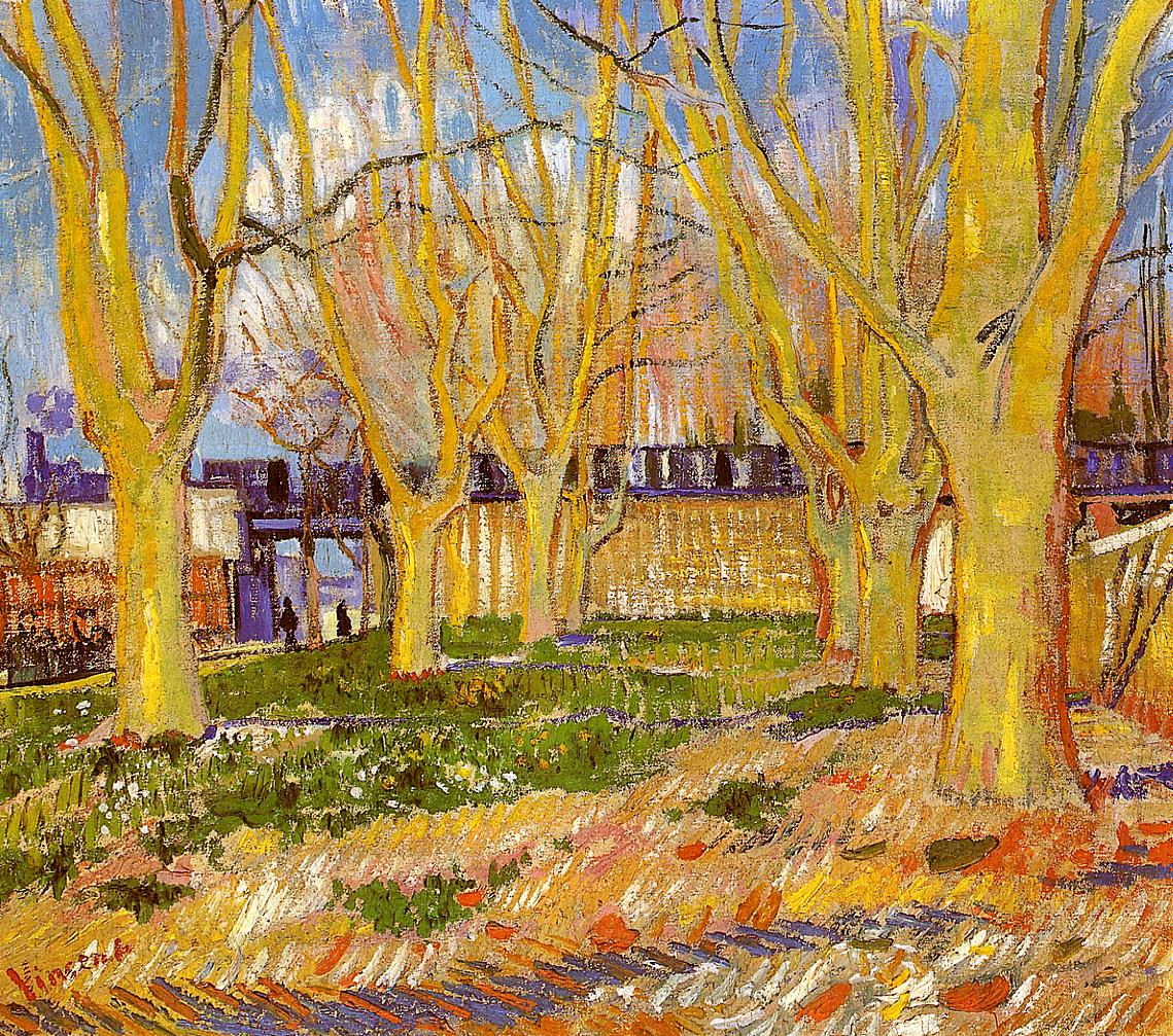 avenue of plane trees near arles station 1888 vincent van gogh. Black Bedroom Furniture Sets. Home Design Ideas