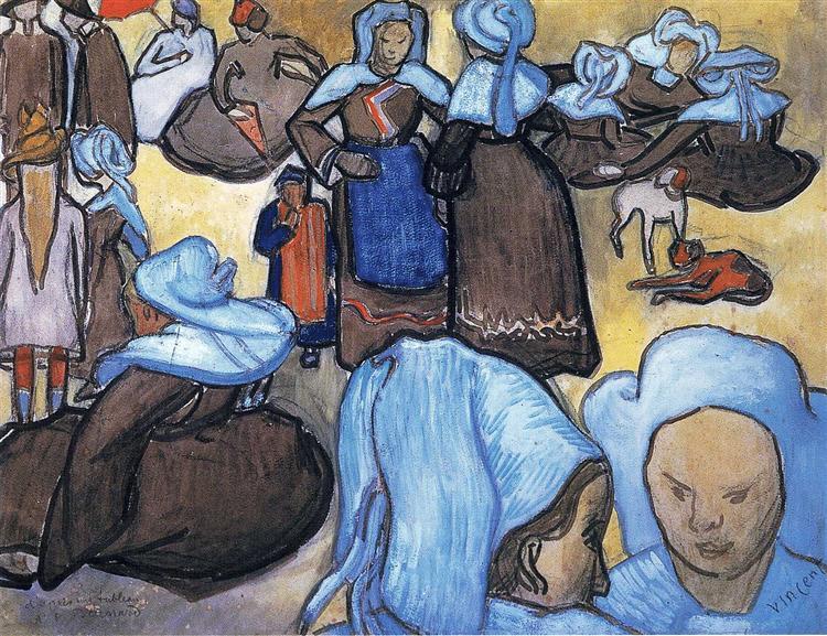 Breton Women, 1888 - Vincent van Gogh