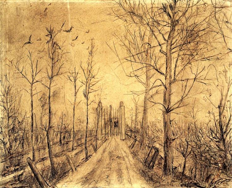 Driveway, 1872 - 1873 - Винсент Ван Гог