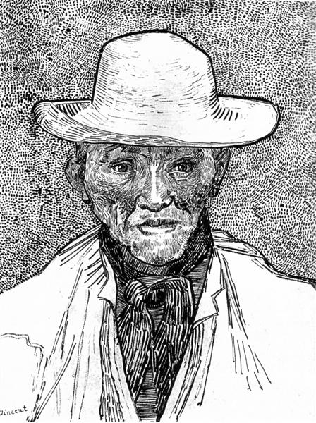 Farmer With Straw Hat 1888 Vincent Van Gogh Wikiart Org