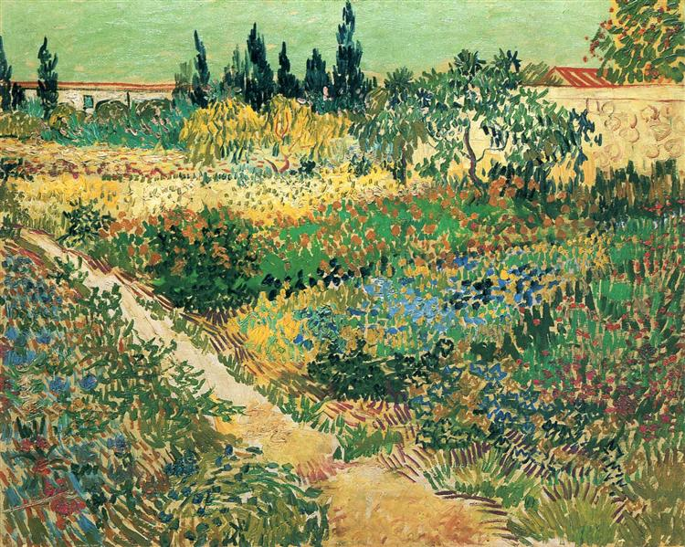Garden With Flowers 1888 Vincent Van Gogh Wikiart Org