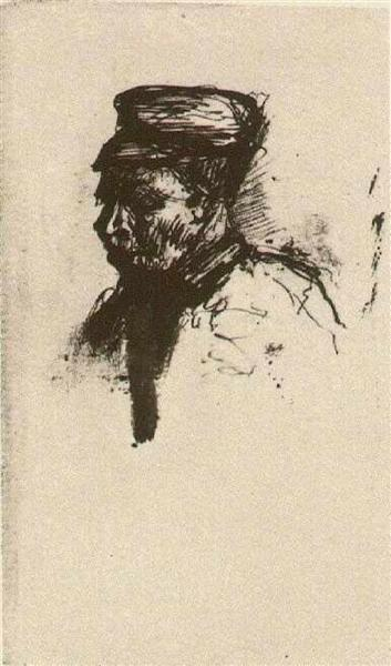 Head of a Peasant with Cap - Vincent van Gogh