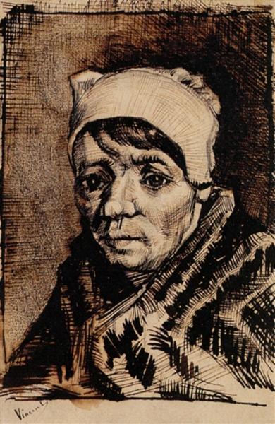 Head of a Woman, 1882 - Вінсент Ван Гог
