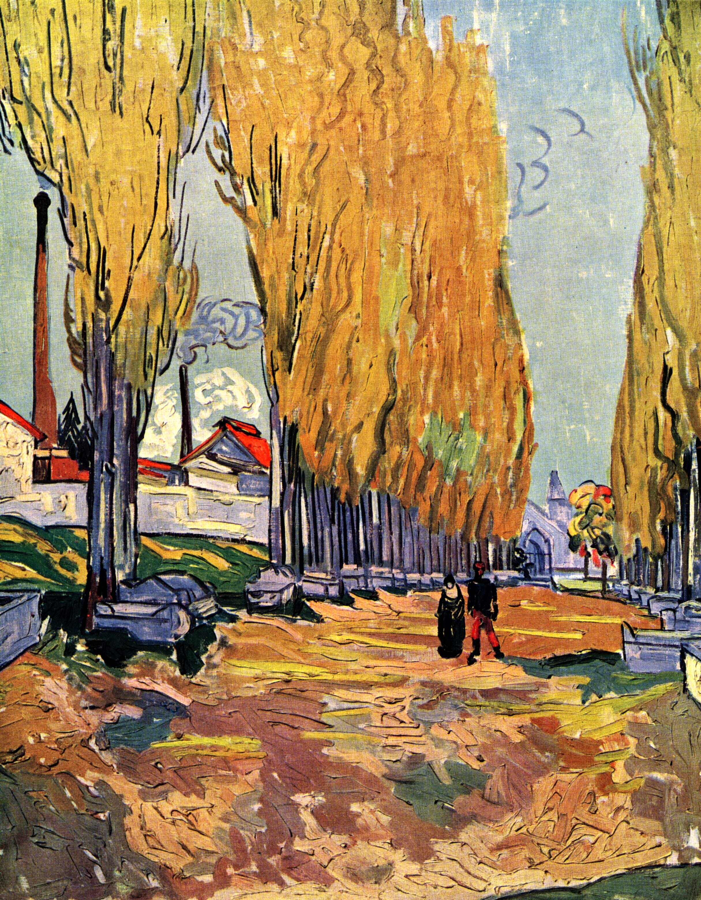 Les alyscamps 1888 vincent van gogh for Van gogh paintings locations