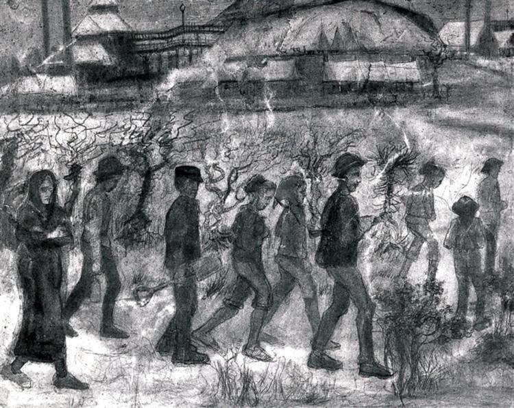 Miners, 1880 - Vincent van Gogh