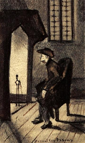 Near the Hearth, 1881 - Vincent van Gogh