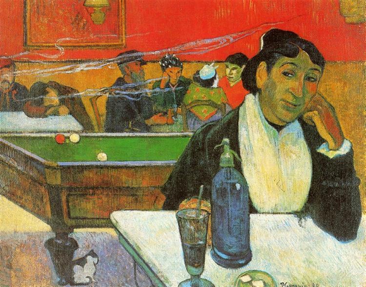 NIght Cafe in Arles (Madame Ginoux), 1888 - Paul Gauguin