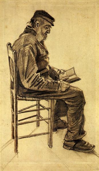 Old Man Reading, 1882 - Vincent van Gogh