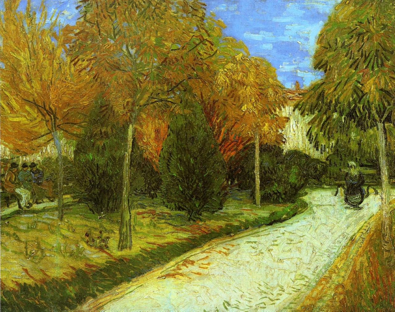 Path in the Park at Arles, 1888 - Vincent van Gogh ...
