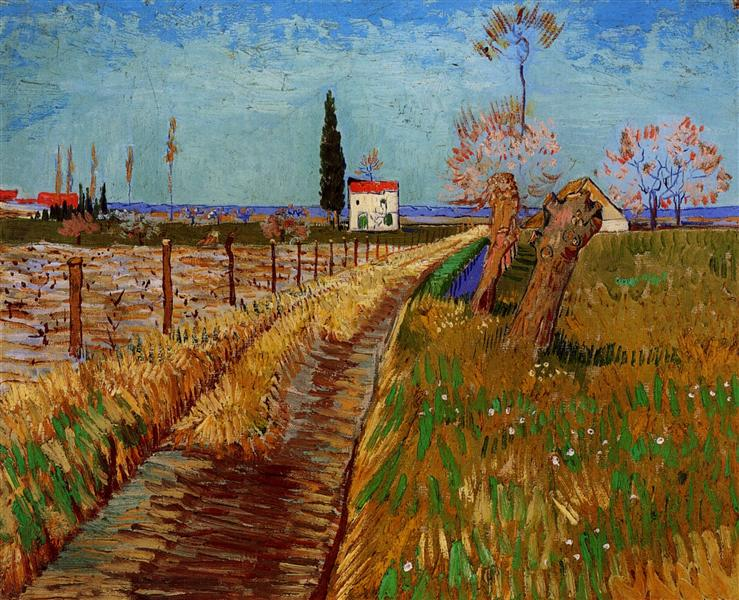 Path Through a Field with Willows, 1888 - Vincent van Gogh