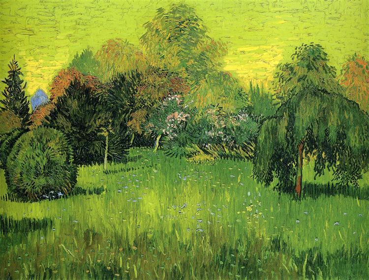 Public Park with Weeping Willow The Poet s Garden I, 1888 - Vincent van Gogh