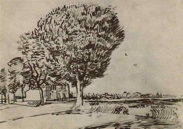 Road With Trees 1888 Vincent Van Gogh Wikiart Org