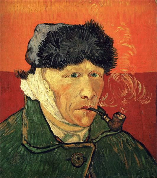 Auto-retrato com a orelha enfaixada, 1889 - Vincent van Gogh