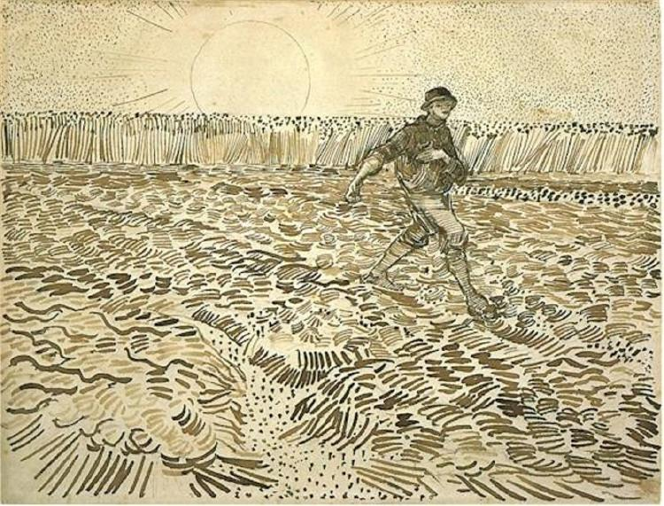 Sower with Setting Sun, 1888 - Vincent van Gogh