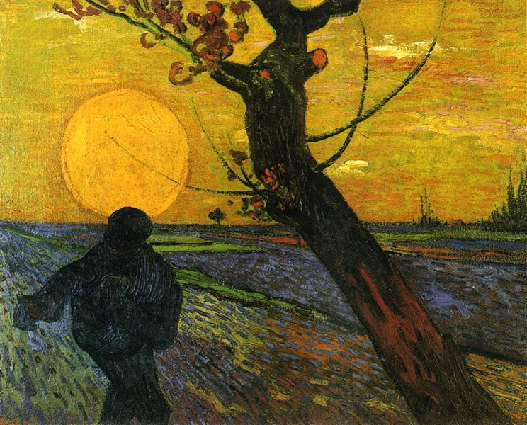 Sower with Setting Sun, 1888 - Винсент Ван Гог