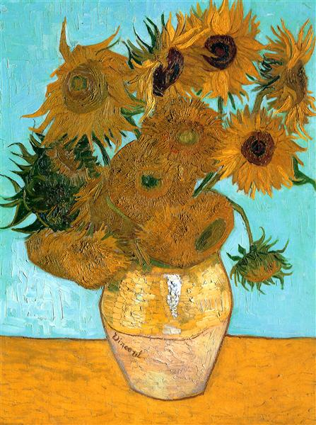 Still Life - Vase with Twelve Sunflowers - van Gogh Vincent