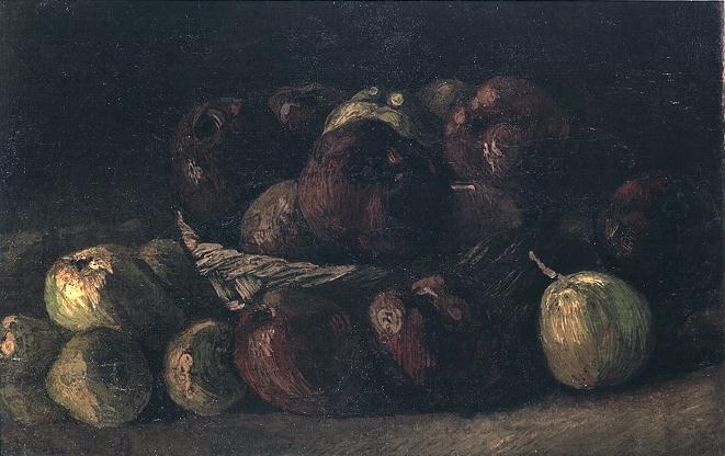 Still life with a basket of apples - van Gogh Vincent