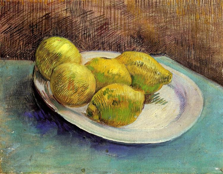 Still Life with Lemons on a Plate, 1887 - Vincent van Gogh