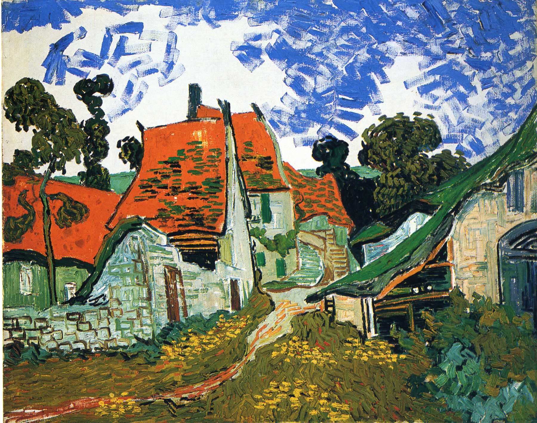 Vincent van Gogh - Page 6 Street-in-auvers-sur-oise-1890