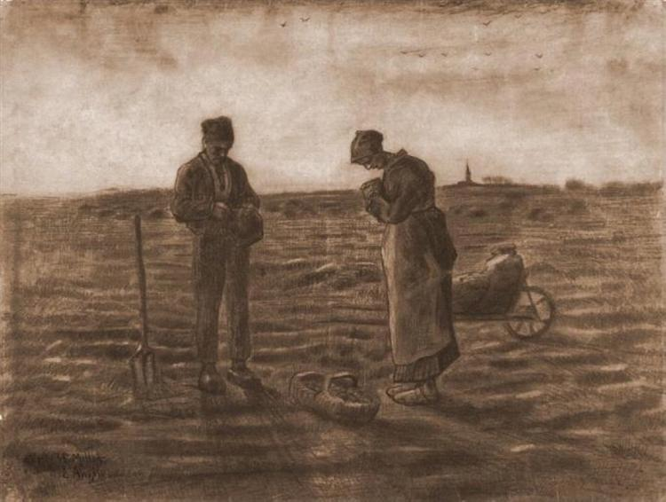The Angelus (after Millet), 1880 - Vincent van Gogh