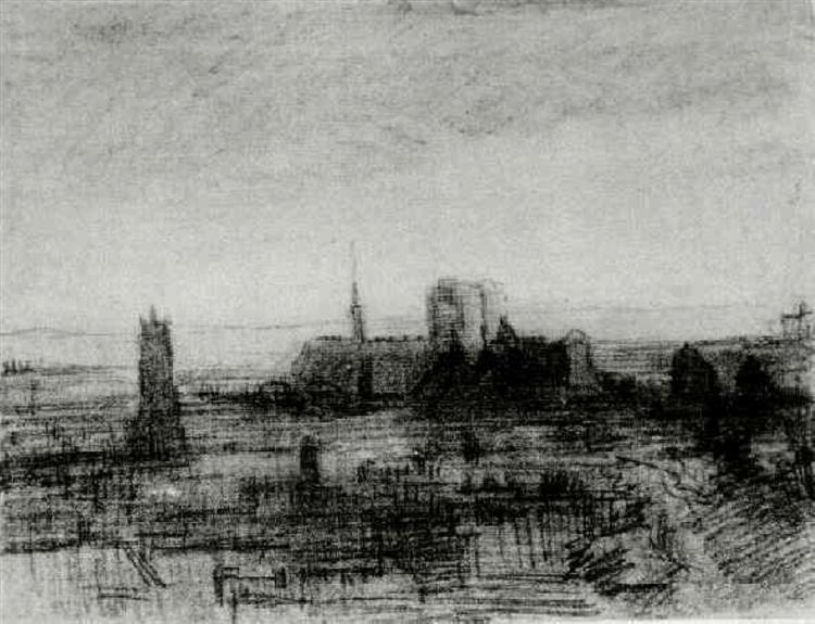 The Roofs of Paris and Notre-Dame, 1886 - 梵谷