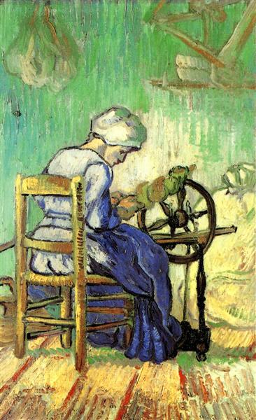 The Spinner (after Millet), 1889 - Vincent van Gogh