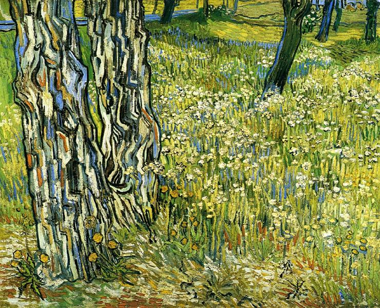 Tree Trunks in the Grass, 1890 - Vincent van Gogh