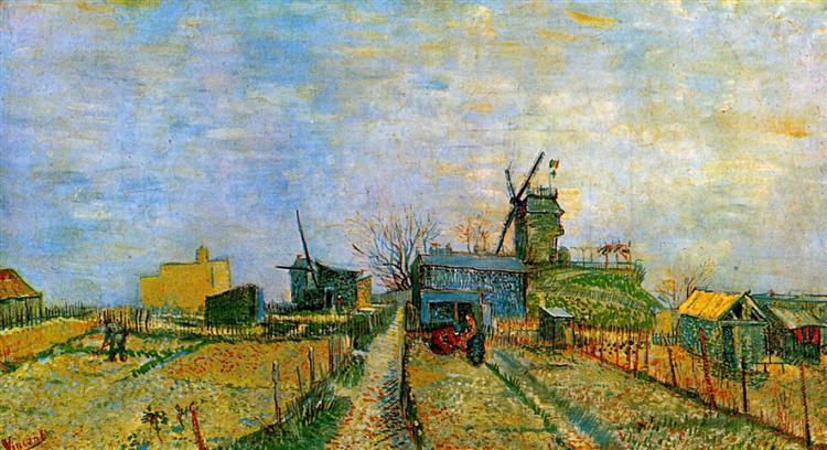 Vegetable Gardens in Montmartre, 1887 - Vincent van Gogh - WikiArt.org