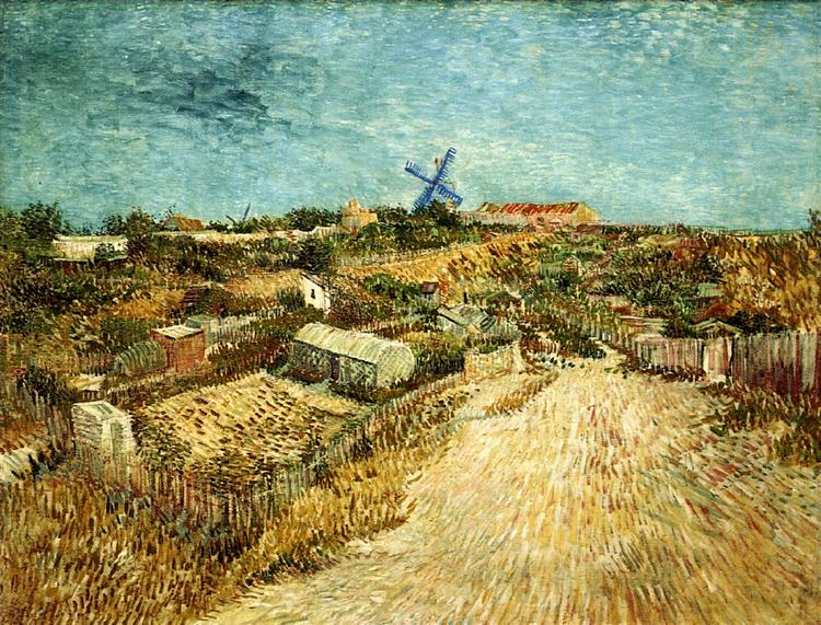 Miraculous Vegetable Gardens In Montmartre 1887 Vincent Van Gogh Interior Design Ideas Gentotryabchikinfo