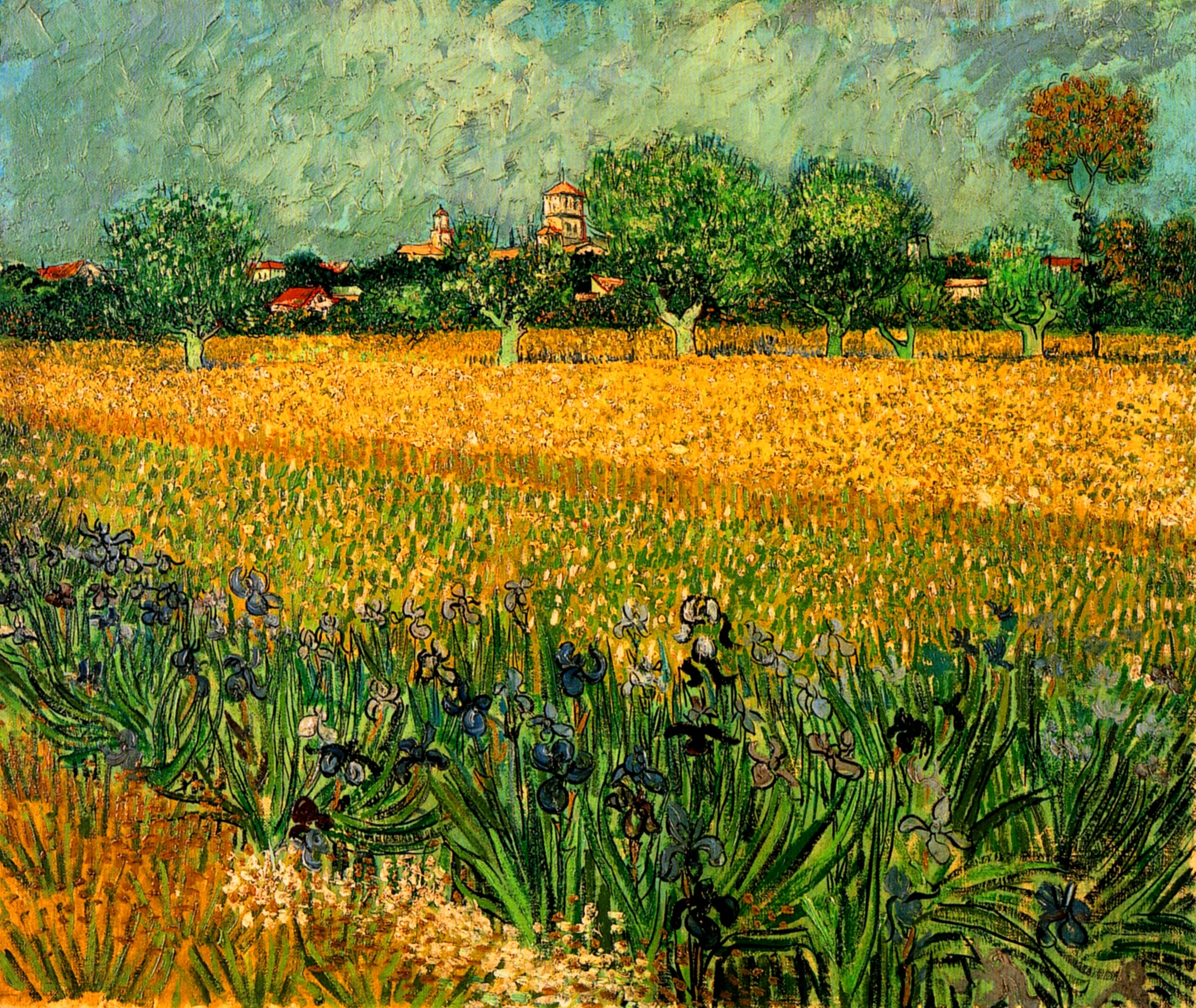 View of arles with irises in the foreground 1888 vincent van view of arles with irises in the foreground 1888 vincent van gogh reviewsmspy