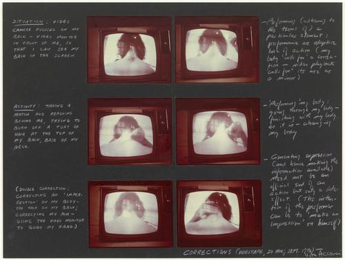 Corrections, 1972 - Vito Acconci