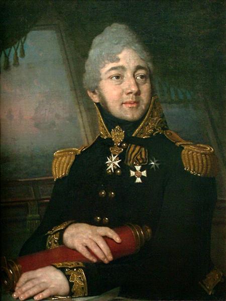 Portrait of the Russian poet Evgeny Boratynsky, 1820 - Vladimir Borovikovsky