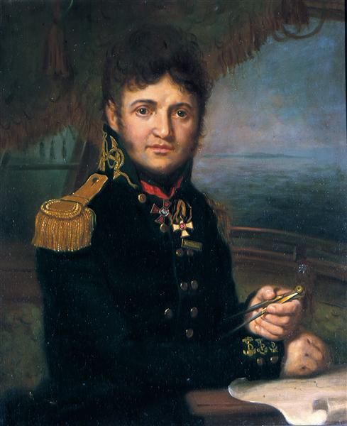 Portrait of Yuri F. Lisyansky, 1810 - Vladimir Borovikovsky