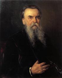 Portrait of I. E. Tsvetkov - Vladímir Makovski