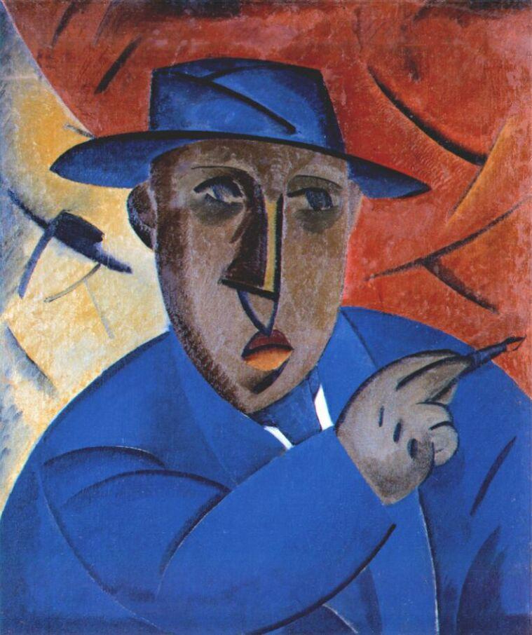 Portrait of the artist, 1912 - Vladimir Tatlin