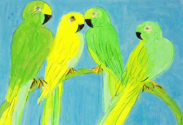 Green and Yellow Parrots - Уоллес Тинг
