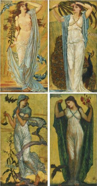 Morn, Noon, Eve, Night, 1891 - Walter Crane