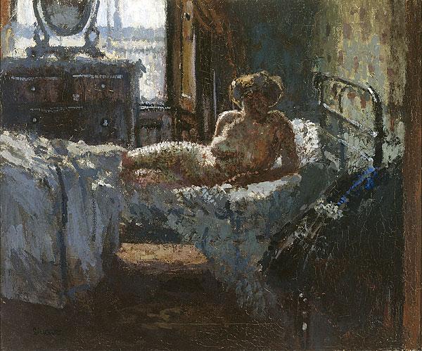 Mornington Crescent nude, contre-jour, 1907