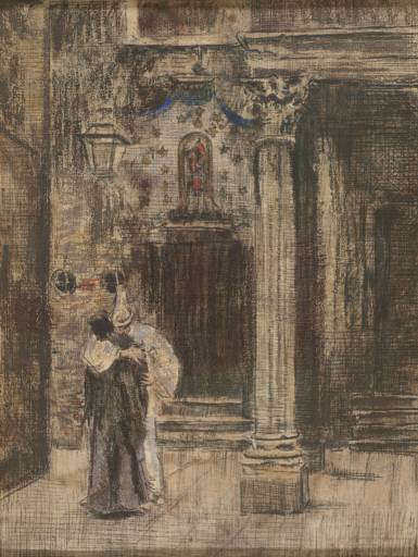Pierrot and Woman Embracing, 1903-1904